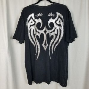 Affliction Shirts - Affliction graphic tee shirt size 2X black skull